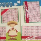"""On The Farm Girl dbl""-Premade Scrapbook Pages 12x12-Double Page Layout"