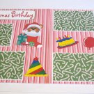 """""""Christmas Birthday dbl""""-Premade Scrapbook Pages 12x12-Double Page Layout"""