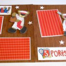 """Playball Sports Nut Baseball dbl""-Premade Scrapbook Pages 12x12-Double Page Layout"