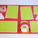 """""""Snow Buddies Girl dbl""""-Premade Scrapbook Pages 12x12-Double Page Layout"""