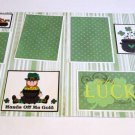 """St Patrick's Day Boy dbl""-Premade Scrapbook Pages 12x12-Double Page Layout"