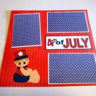 """""""4th Of July Boy""""-Premade Scrapbook Page 12x12"""