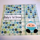 """""""Baby's 1st Snow""""-Premade Scrapbook Page 12x12"""