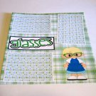 """Glasses Boy""-Premade Scrapbook Page 12x12"