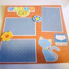 """""""Crazy For My Cat Cats Rule""""-Premade Scrapbook Page 12x12"""