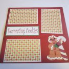 """Decorating Cookies Gingerbread Man 2""-Premade Scrapbook Page 12x12"