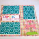 """Love Express""-Premade Scrapbook Page 12x12"