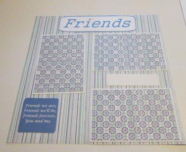 """Friends 1""-Premade Scrapbook Page 12x12"