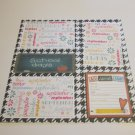"""School Days All About Me""-Premade Scrapbook Page 12x12"