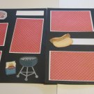 """""""BBQ a dbl""""-Premade Scrapbook Pages 12x12-Double Page Layout"""