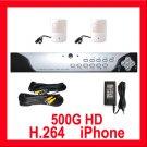 2 Camera H.264 Video CCTV Security Surveillance System