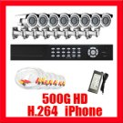 Complete 8 Channel DVR Camera Surveillance CCTV System