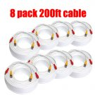 8 x 200ft VIDEO POWER CCTV SUVEILLANCE DVR SYSTEM CABLE