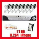 COMPLETE H264 8 CH DVR CAMERA VIDEO SURVEILLANCE SYSTEM
