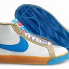 Blazer High-Blue and White Gum-117986