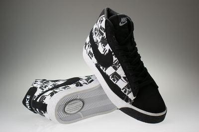 Blazer High-Black and White Checkered-117963