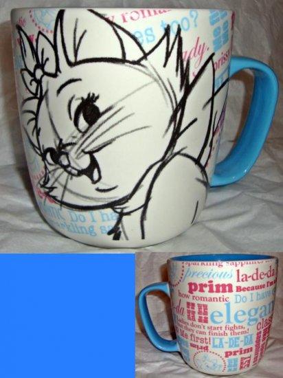Disney Store Aristocats Marie Character Mug~16oz~NEW
