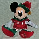 "Disney Store Christmas Elf Mickey Plush 16"" ~ NEW"