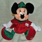 "Disney Store Christmas Elf Minnie Plush 16"" ~ NEW"