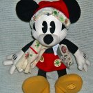 "Disney Store Christmas Retro Minnie Plush 16"" ~ NEW"