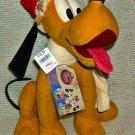 "Disney Store Christmas Retro Pluto Plush 12"" ~ NEW"