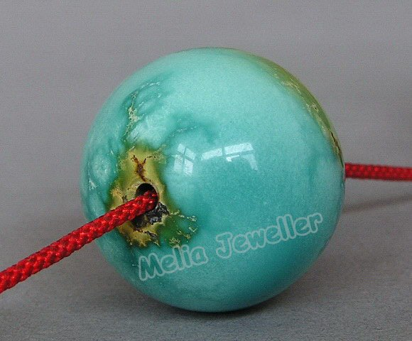 Natural Turquoise Dia.23 mm Round Loose Bead
