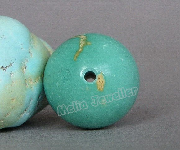 Natural Turquoise Dia.13.5 mm Round Loose Bead