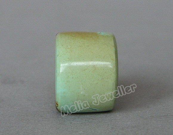 Natural Turquoise Dia.17 mm Barrel Loose Bead