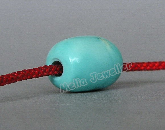 Natural Turquoise Dia.9 mm Barrel Loose Bead