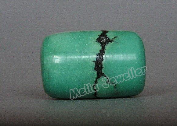 Natural Turquoise Dia.11 mm Barrel Loose Bead