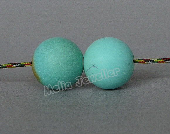 Natural Turquoise Dia.11 mm Round Loose 2 Beads