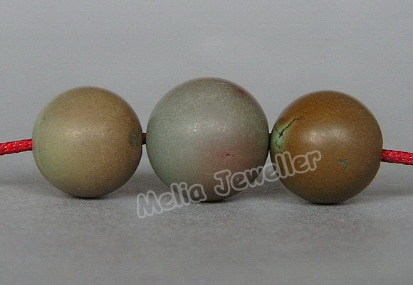 Natural Turquoise Dia.10-11 mm Round Loose 3 Beads