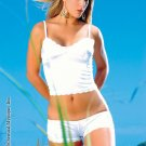 Satin cami with trim lace and matching boy short.80139