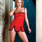 Mesh chemise with lace and matching g-string.80110