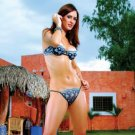 Flower embroidered bra with matching thong panty.80187