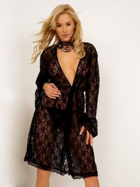 Floral stretchable lace robe.80080