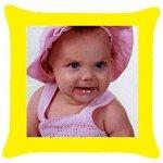 Custom print throw pillow/cushion case