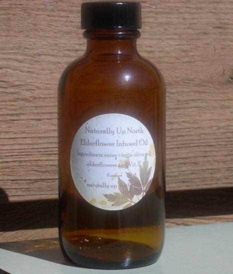 Elderflower Elder Flowers Herbal Infused Oil 4 ounces