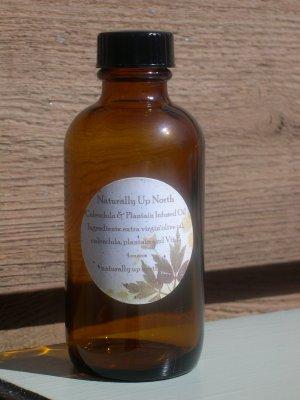 Calendula and Plantain Herbal Oil 4 ounces