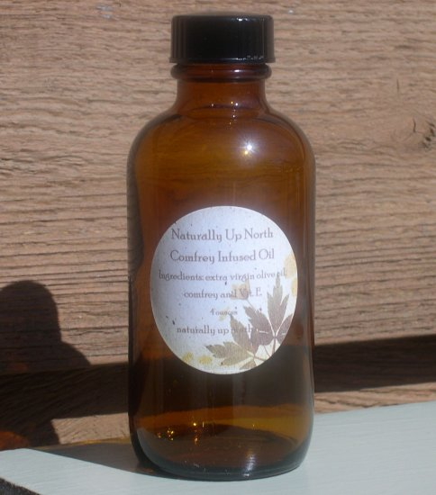 Comfrey Infused Herbal Oil 4 ounces