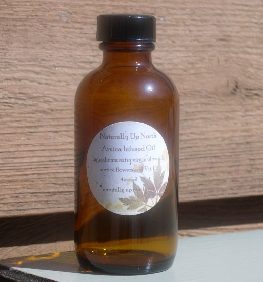 Arnica Flower Infused Herbal Oil 4 ounces