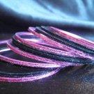 Black Metallic Pink Indian Bangle Ethnic Bracelets 2.10