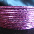 Metallic Pink Indian Bangles Ethnic Bracelets size 2.10