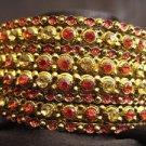 Indian Ethnic Bollywood Belly Dance Costume Metal Bangles Bracelet Orange