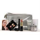 Lancome SILVER Cosmetic Bag 7 PC Set:LIPSTICK ,RENERGIE
