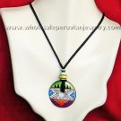 15 HAND-PAINTED CERAMIC DOUGHNUT NECKLACES HANDMADE WHOLESALE PERUVIAN JEWELRY ART