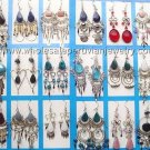10 PAIRS OF STONE AND GLASS ALPACA SILVER EARRINGS HANDMADE PERUVIAN JEWELRY WHOLESALE ART