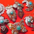 7 UNIQUE COCONUT PENDANTS HANDMADE PERUVIAN JEWELRY WHOLESALE ART