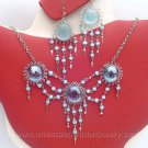 7 SEMI-PRECIOUS STONE & GLASS EARRINGS & NECKLACE SETS HANDMADE PERUVIAN JEWELRY WHOLESALE ART