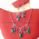 7 STUNNING SEMI-PRECIOUS STONE EARRINGS & NECKLACE SETS HANDMADE PERUVIAN JEWELRY WHOLESALE ART